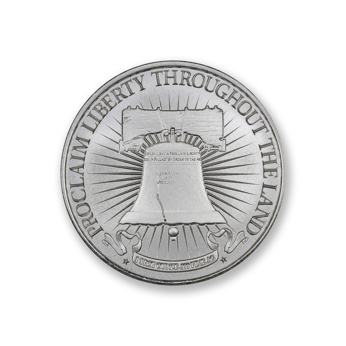 SONS OF LIBERTY, TYPE II W/ LIBERTY BELL – 1 TROY OUNCE – 39MM (ONLY 500 MINTED!)