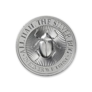 The Silver Bug - 3rd in Series - Dynastinae (Rhinoceros Beetle) - 2 ozt. 39mm .999 Fine Silver Art Medal (6mm Thick)