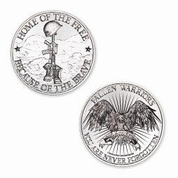 Battlefield Cross Tribute - 1ozt. 39mm .999 Fine Silver Art Medal - Limited Mintage: 500