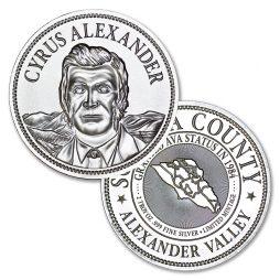 Vintner's Mint Cellar Medallions Series - 2 ozt. 50mm .999 Fine Silver Art Medal (Limited Mintage of 5000)