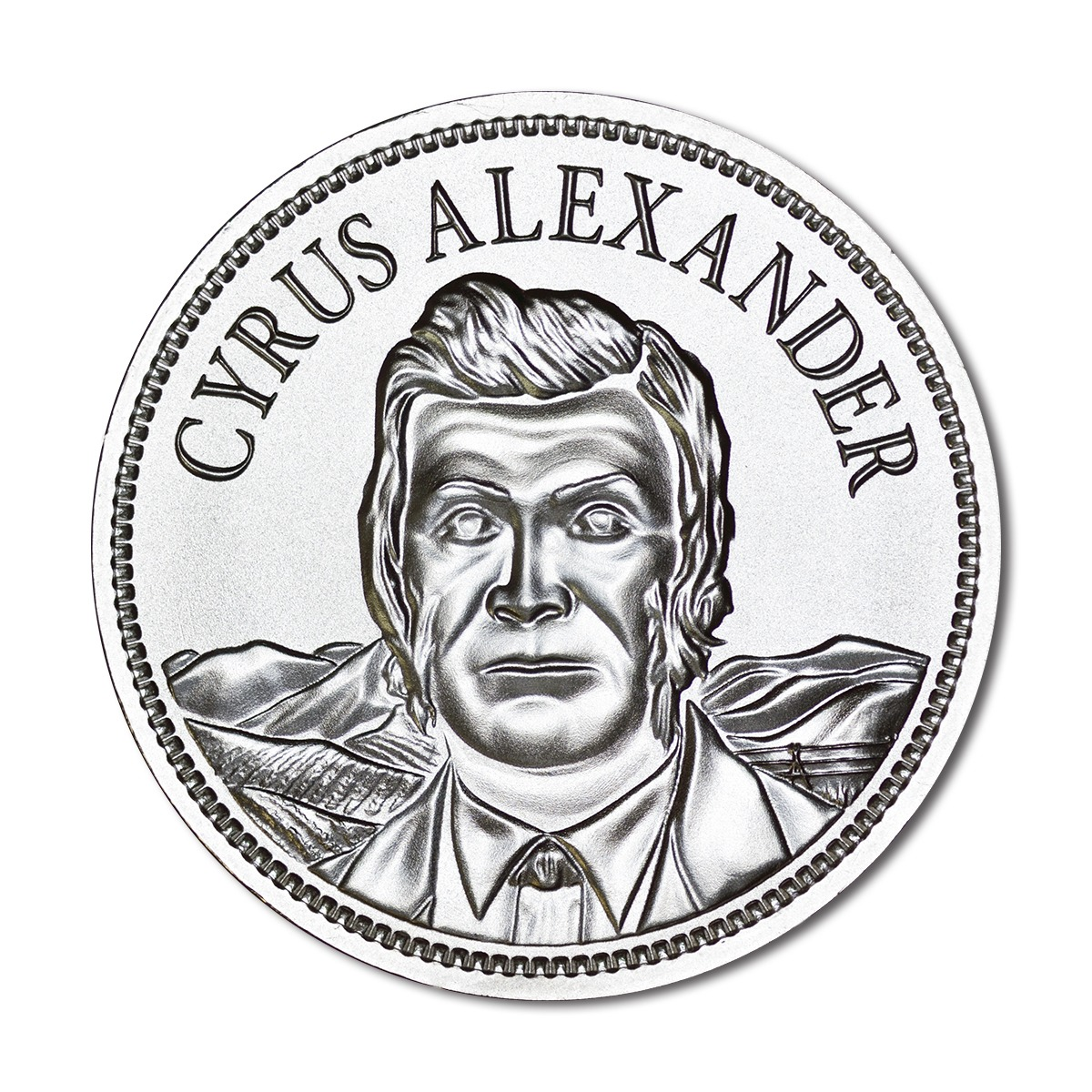 CYRUS ALEXANDER – 2 TROY OUNCE – 50MM – LIMITED MINTAGE: 5,000