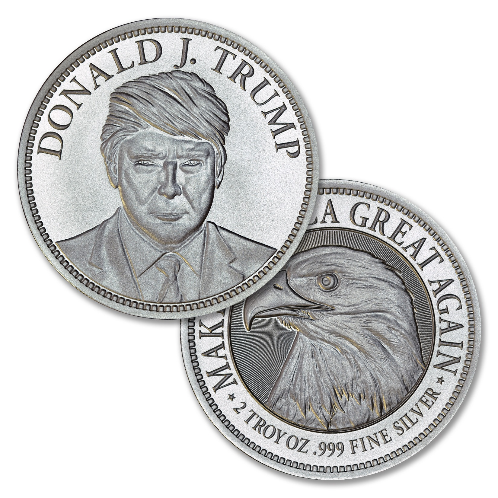TRUMP CAMPAIGN – 2 TROY OUNCE – 50MM – LIMITED MINTAGE: 5,000