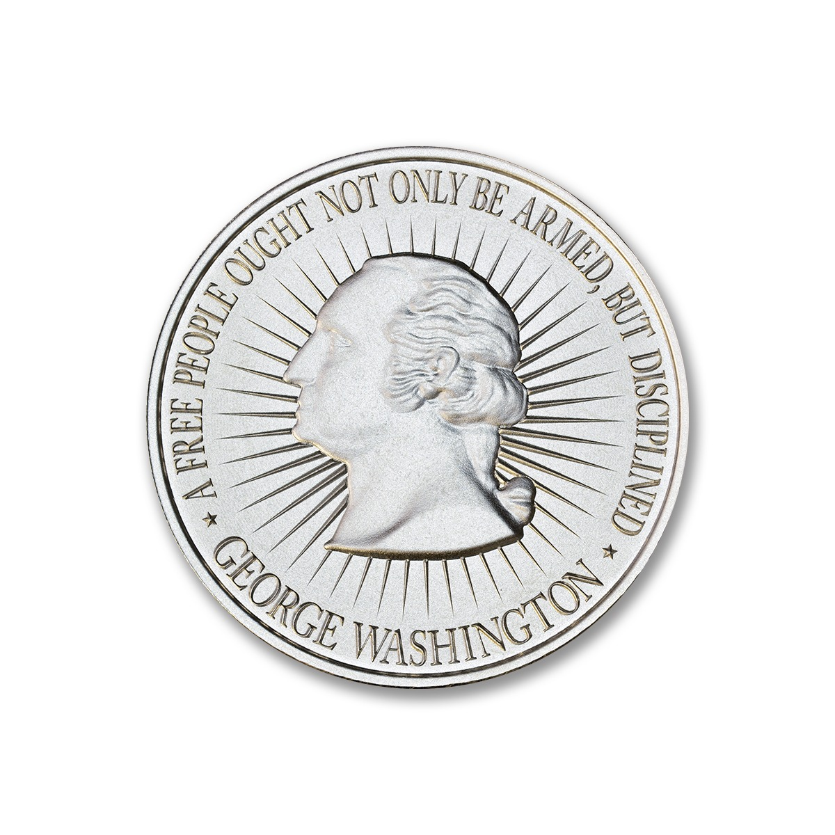 WASHINGTON BUST / BILL OF RIGHTS 2A – 1 TROY OUNCE – 39MM
