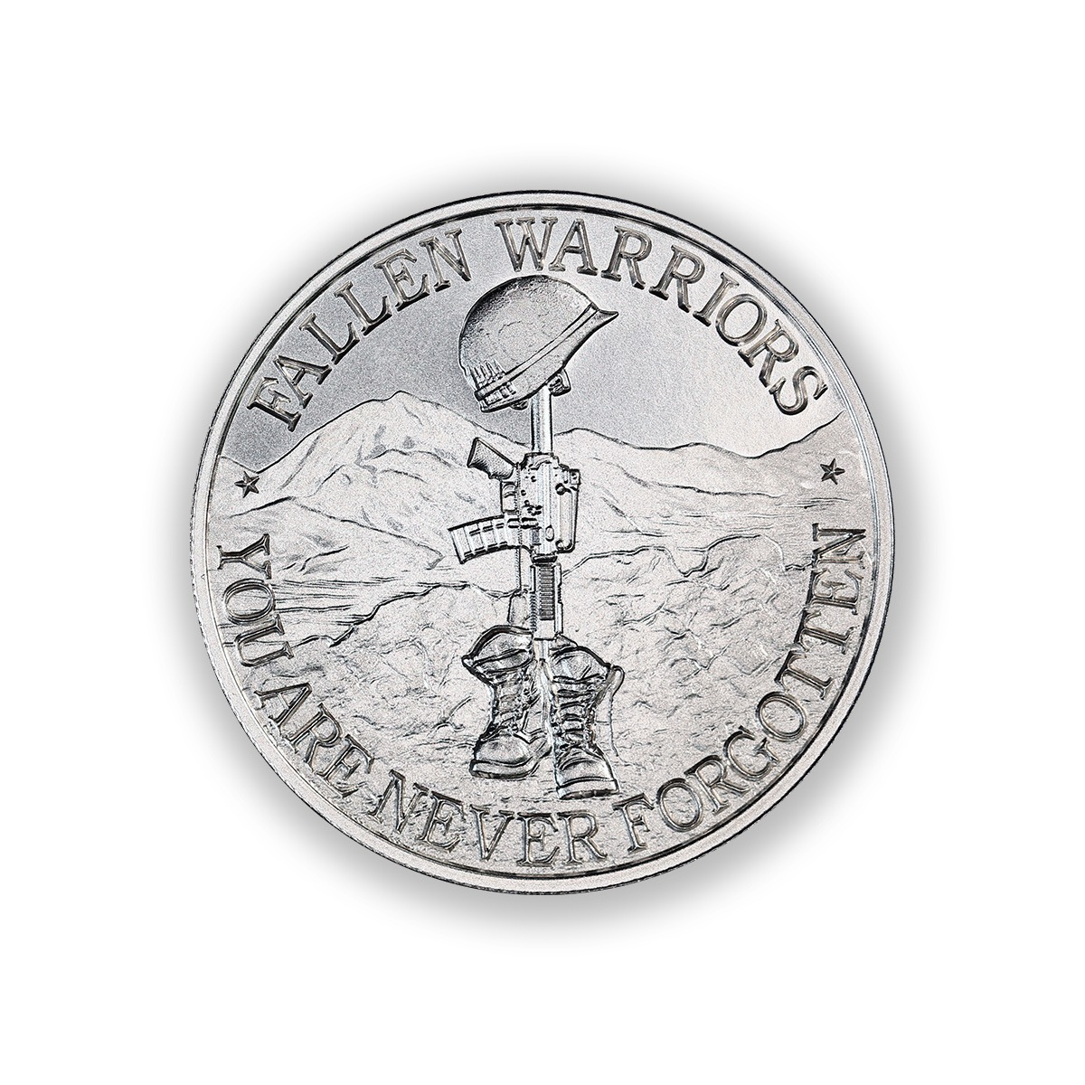 BATTLEFIELD CROSS – 2 TROY OUNCE – 39MM