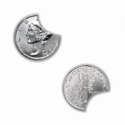 "Intaglio Mint Exclusive - Error Coin - Series 1 - ""Clip-Curve"" - .999 Fine Silver - Limited Mintage: 1,000!"