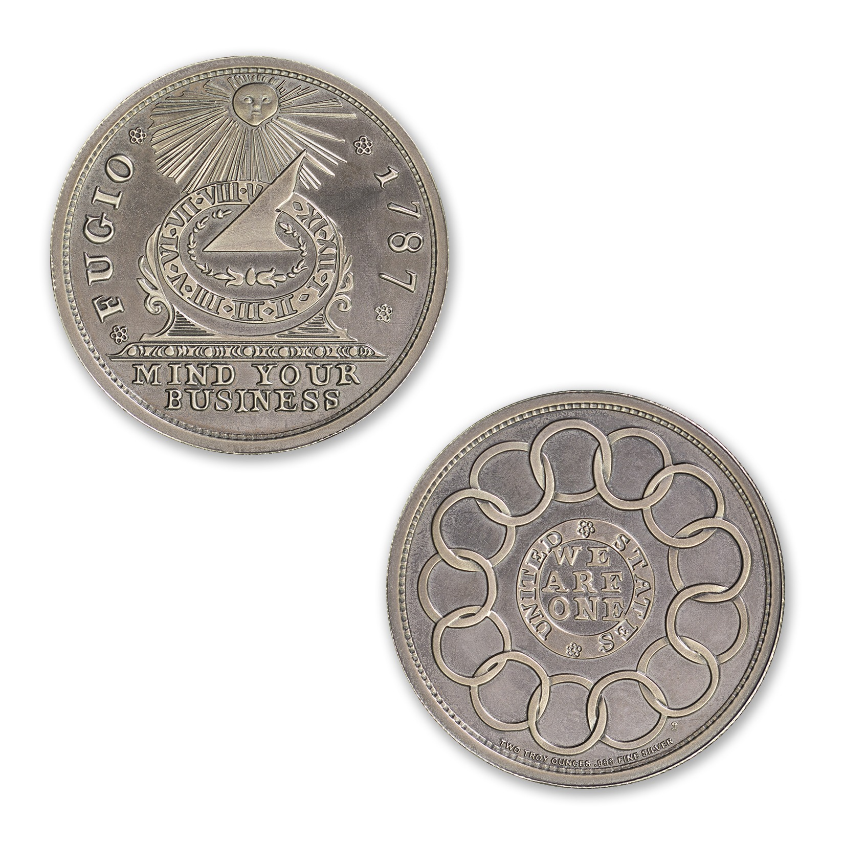 FUGIO CENT – 2 TROY OUNCE – 39MM (ANTIQUED)