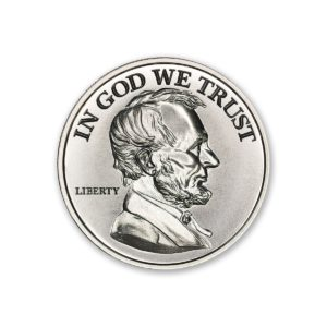 Presidential Tribute Series - Lincoln - 2ozt. 39mm .999 Fine Silver Art Medal (6mm Thick)