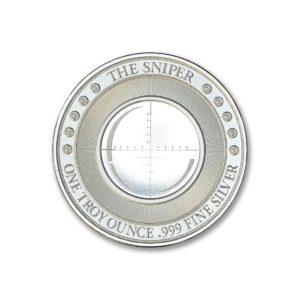 THE SNIPER - 1ozt. .999 Fine Silver Art Medal