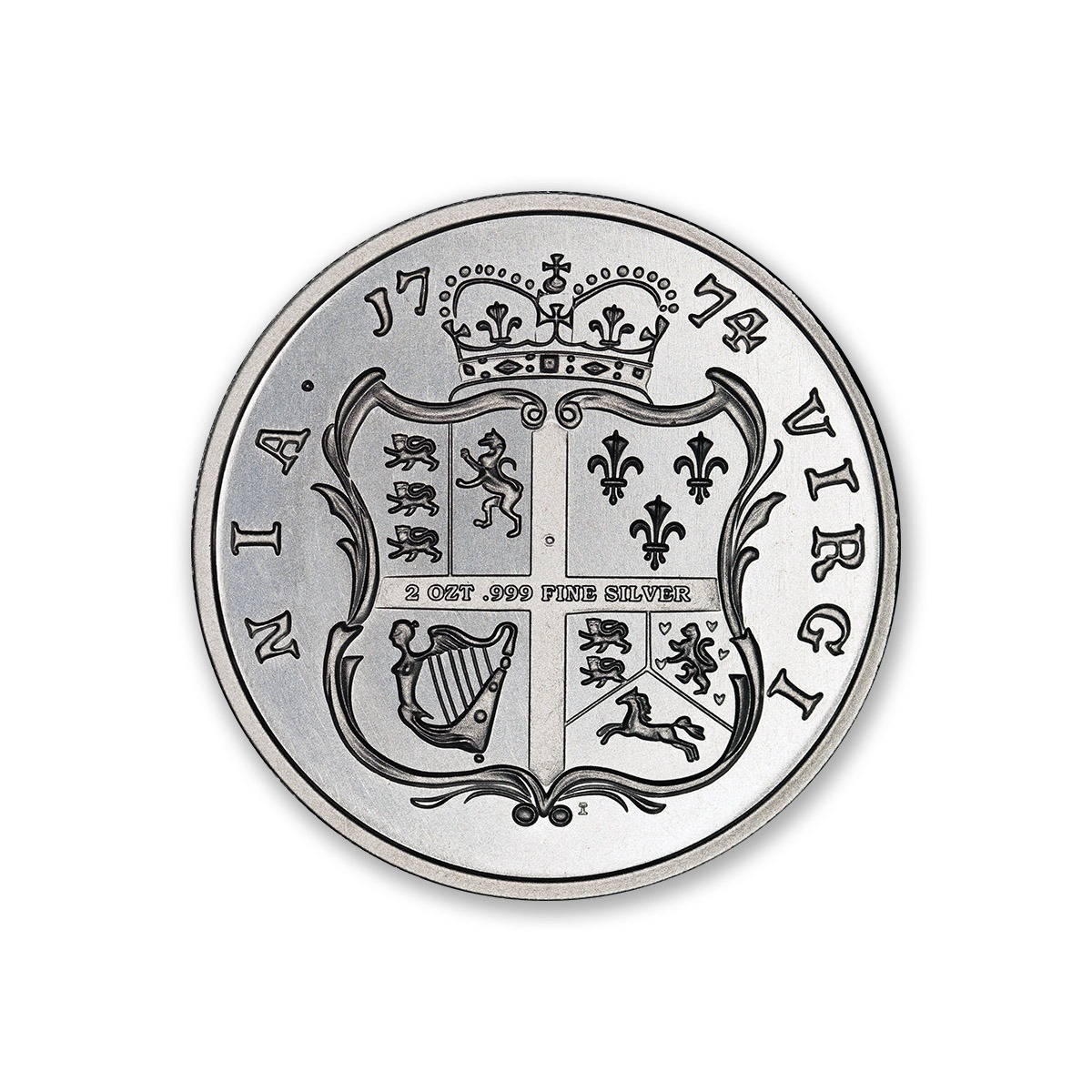 Colonial Tribute Series - The Virginia Shilling - 2 ozt. 39mm .999 Fine Silver Art Medal (6mm Thick)