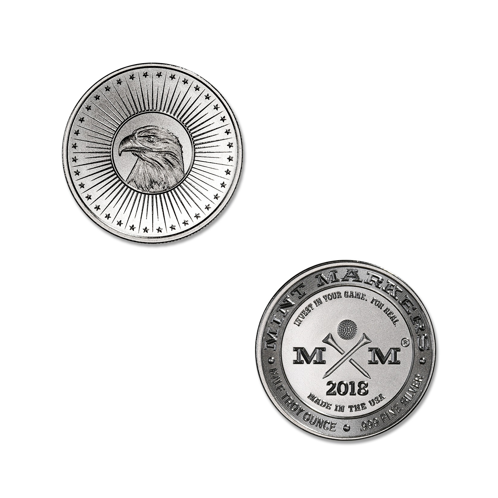 "2018 MINT MARKERS – ""EAGLE"" – 1/2 TROY OUNCE – 30MM (ONLY 1,000 MINTED!)"