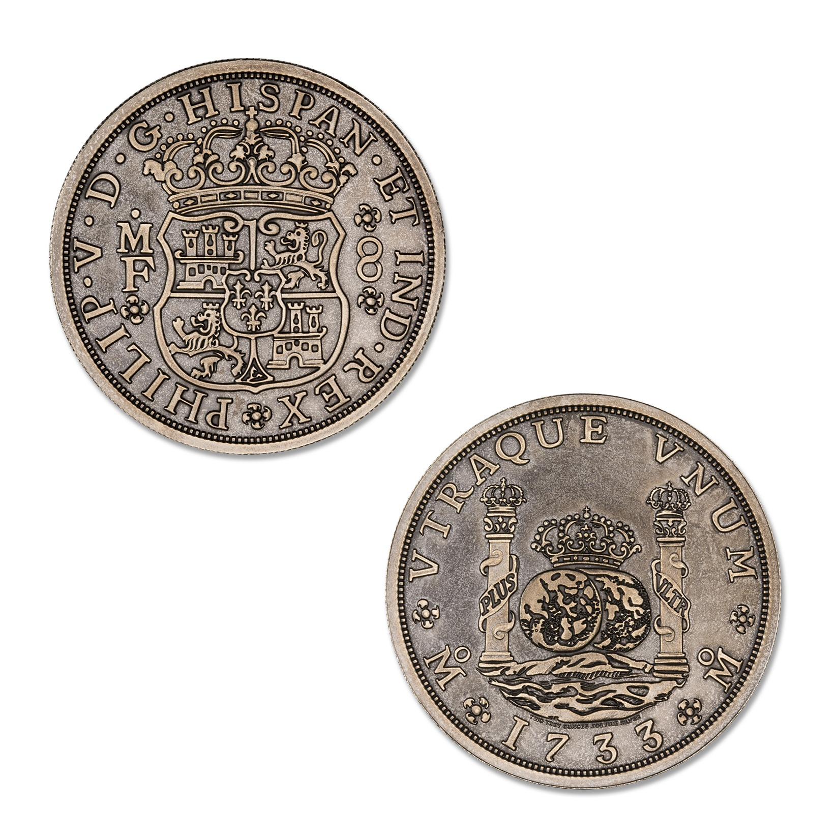 PILLAR DOLLAR – 2 TROY OUNCE – 39MM (ANTIQUED)