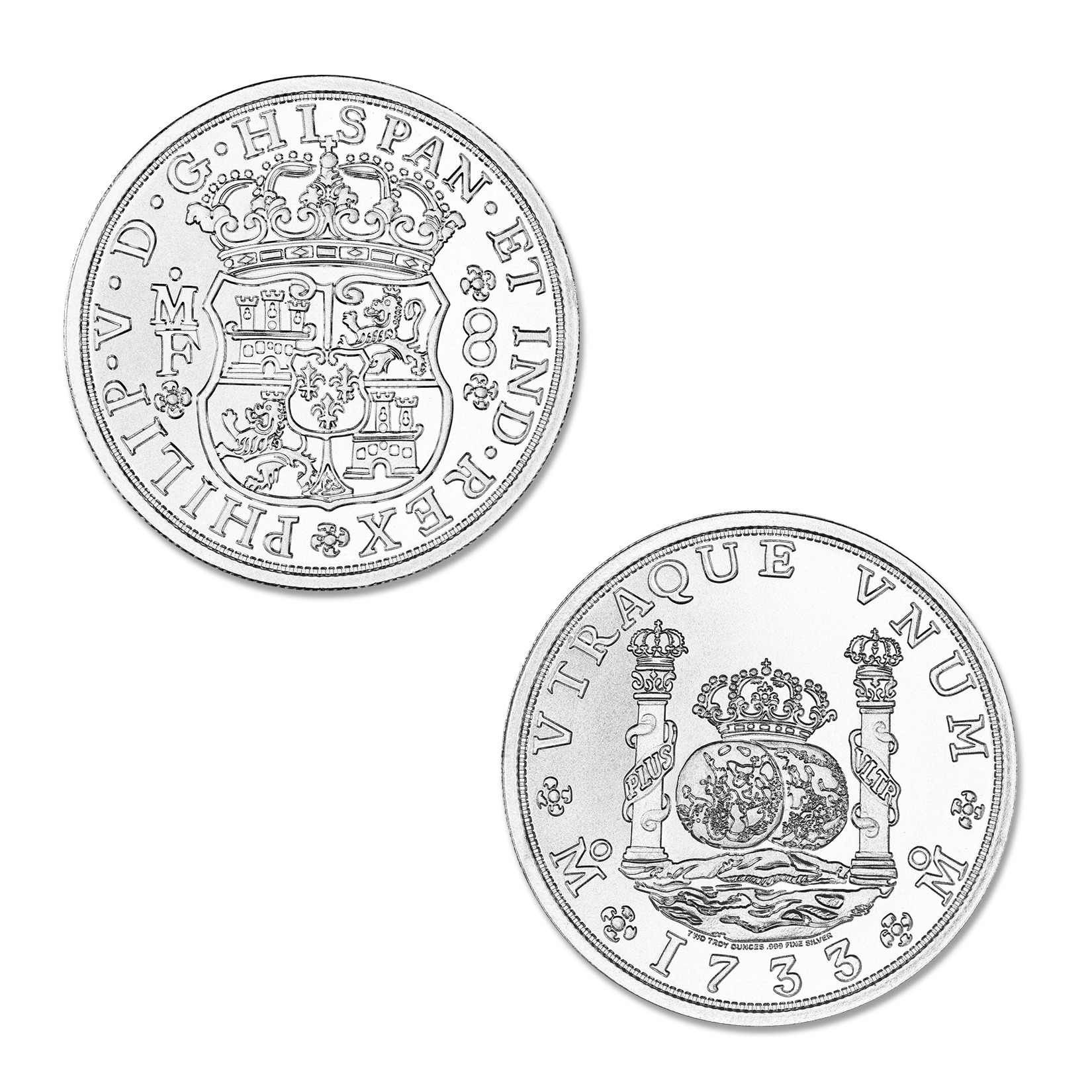 PILLAR DOLLAR – 2 TROY OUNCE – 39MM