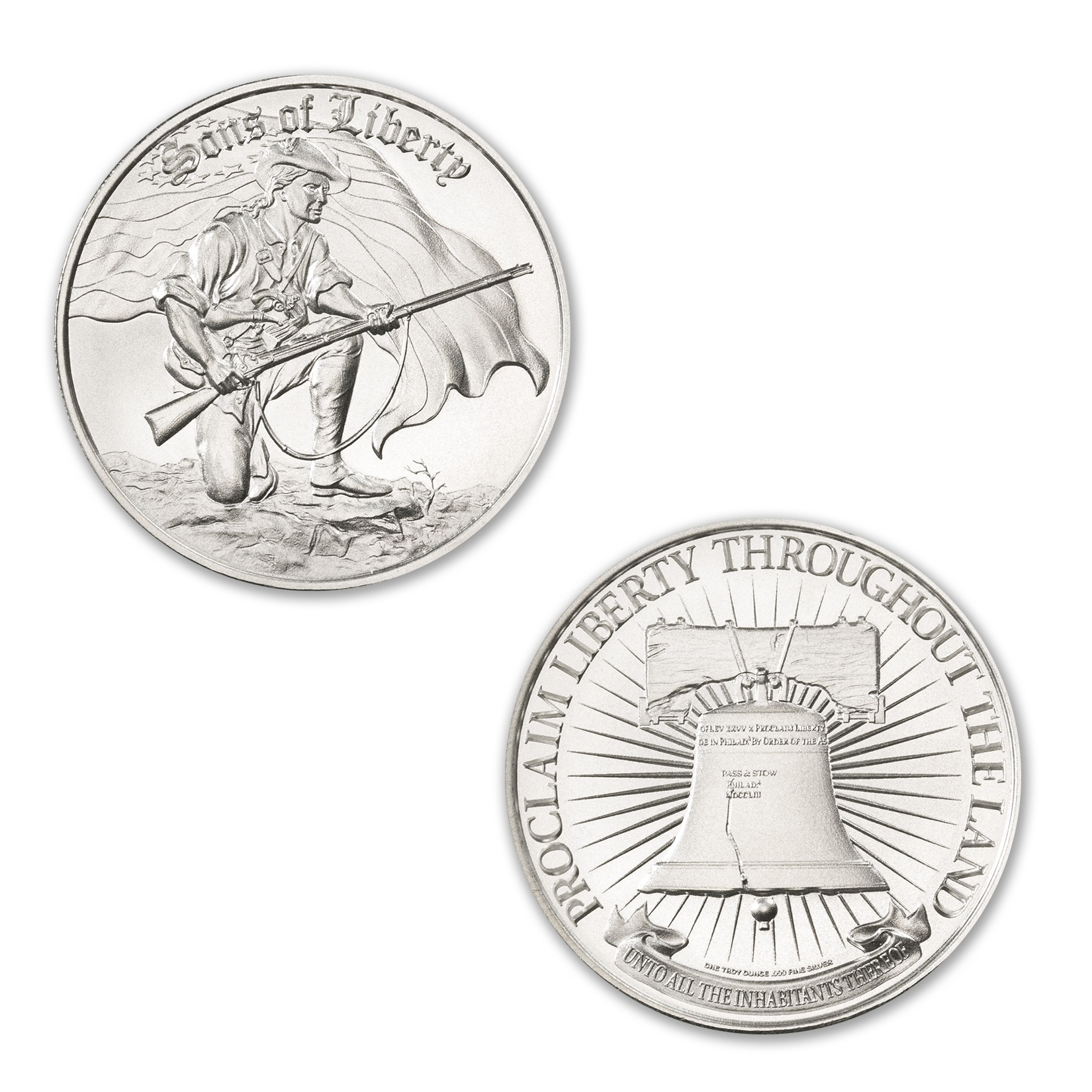 SONS OF LIBERTY, TYPE III – 1 TROY OUNCE – 39MM (ONLY 500 MINTED!)