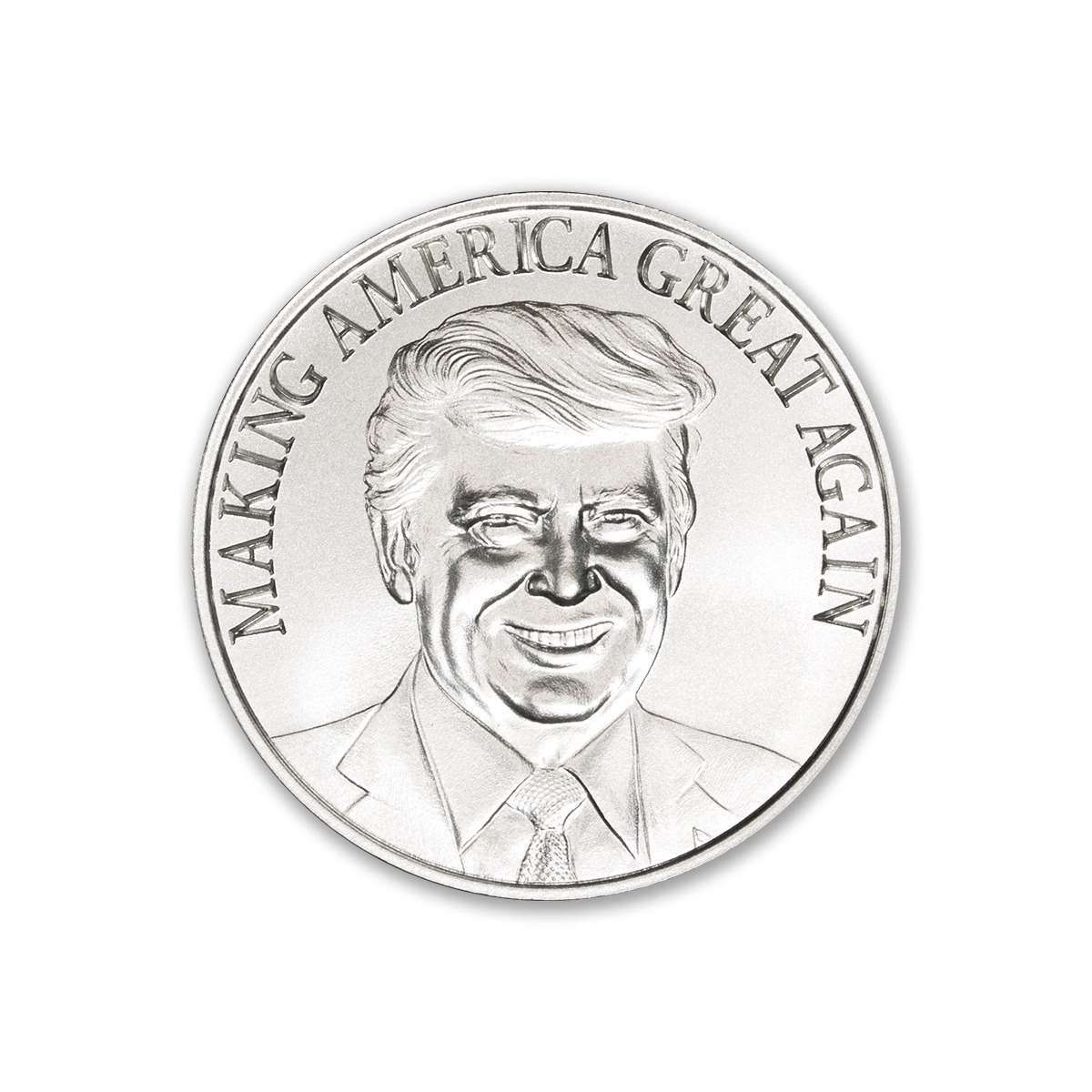 TRUMP – MAKING AMERICA GREAT AGAIN – 1 TROY OUNCE – 39MM