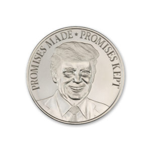 "TRUMP – ""PROMISES MADE, PROMISES KEPT"" ™ – 1 TROY OUNCE – 39MM"