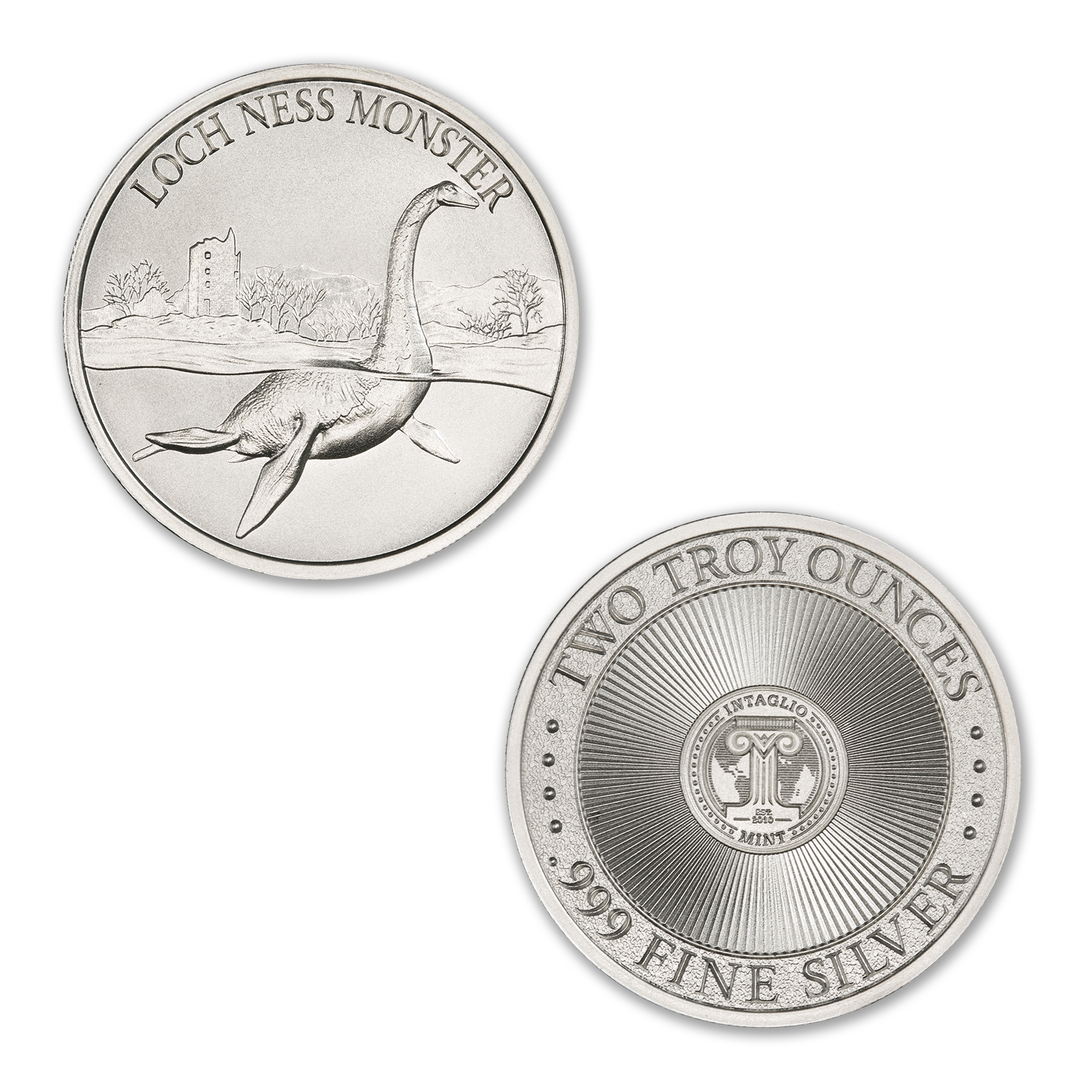 LOCH NESS MONSTER – 2 TROY OUNCE – 39MM