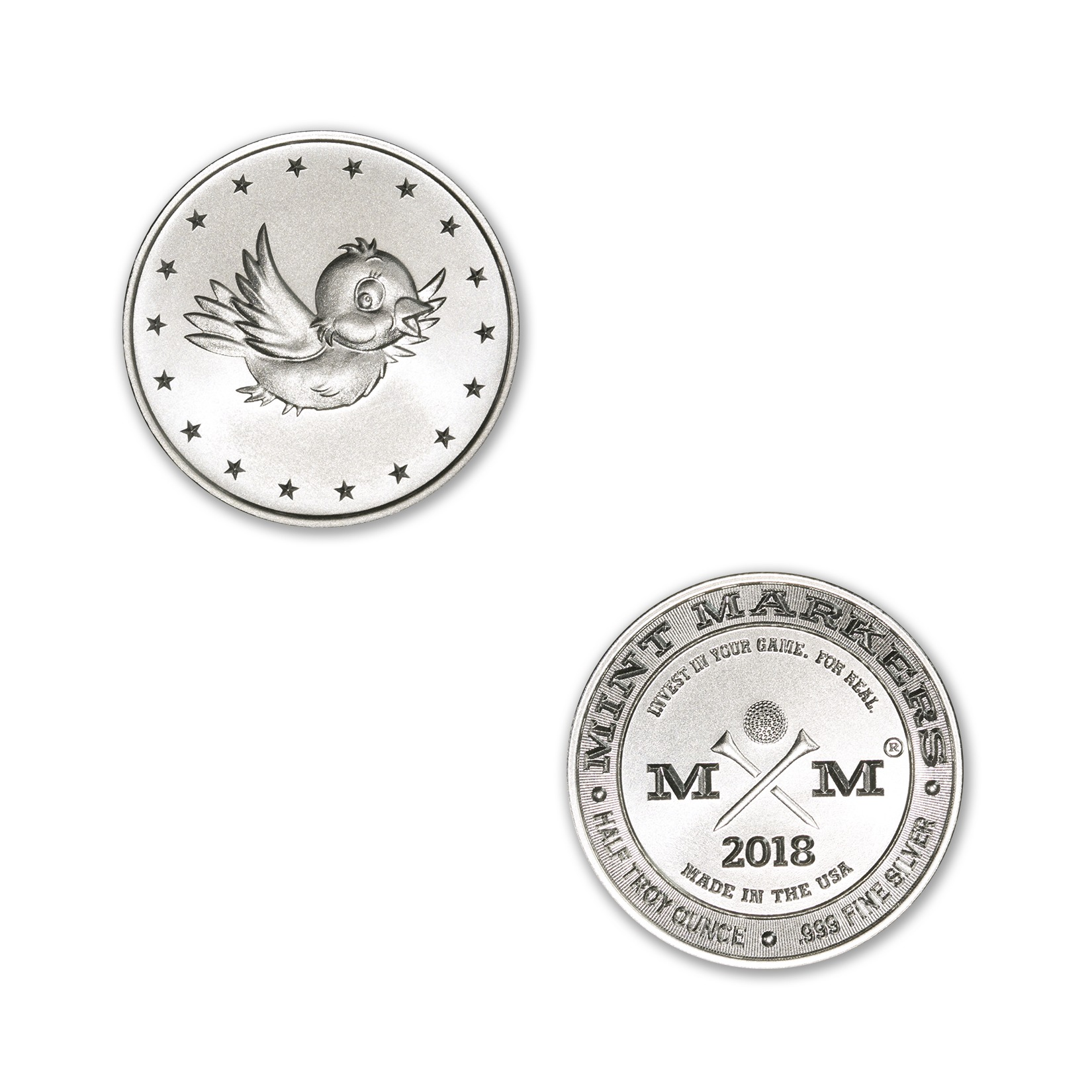 """2018 MINT MARKERS® – """"BIRDIE"""" – 1/2 TROY OUNCE – 30MM (ONLY 1,000 MINTED)"""