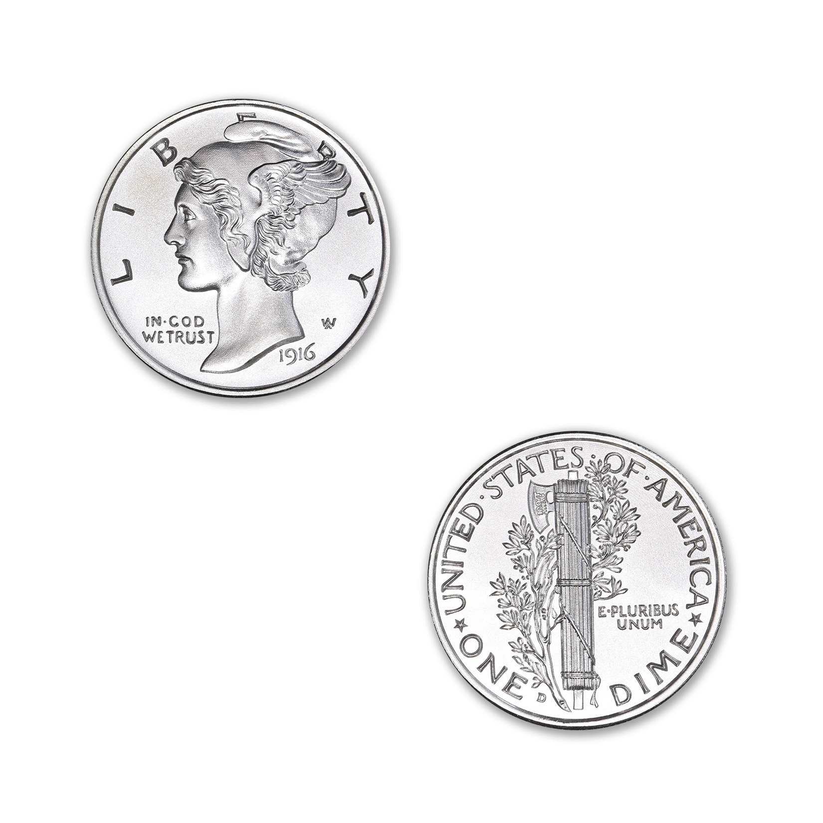 MERCURY DIME TRIBUTE – 1/2 TROY OUNCE – 30MM