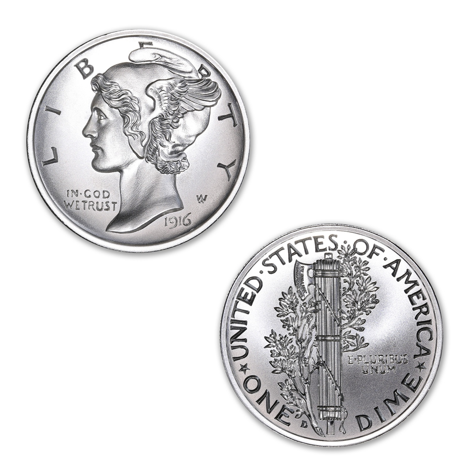 MERCURY DIME TRIBUTE – UHR – 2 TROY OUNCE – 39MM