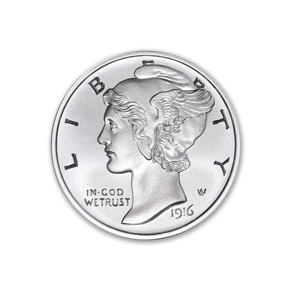 MERCURY DIME TRIBUTE – 1 TROY OUNCE – 39MM
