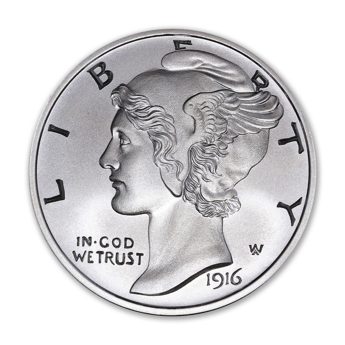 NEW MERCURY DIME TRIBUTE – 2 TROY OUNCE – 50MM