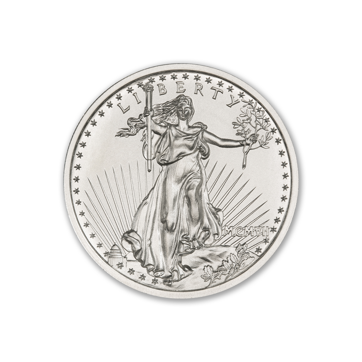 $20 SAINT-GAUDENS – HIGH RELIEF – 2 TROY OUNCE – 39MM