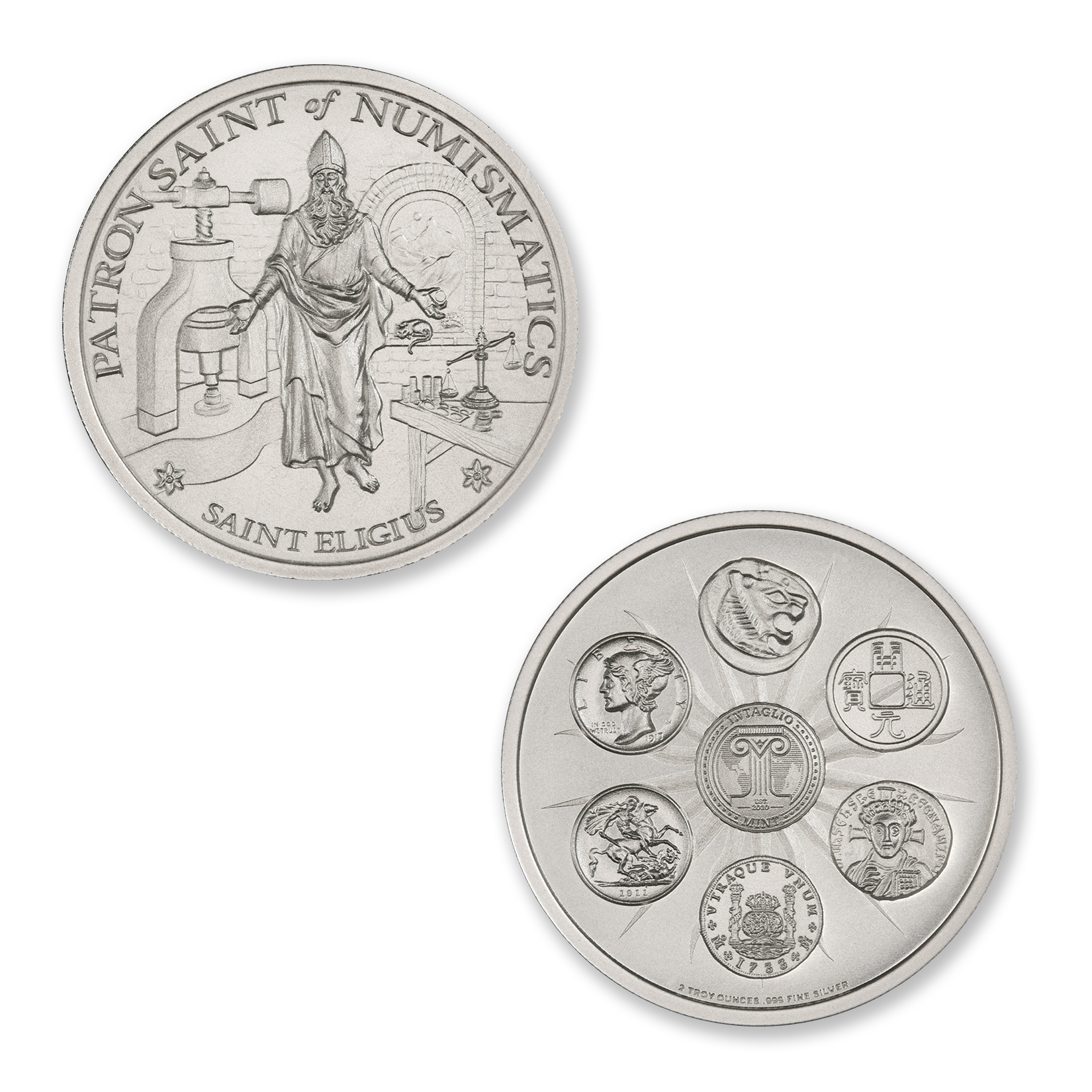 SAINT ELIGIUS – 2 TROY OUNCE – 39MM