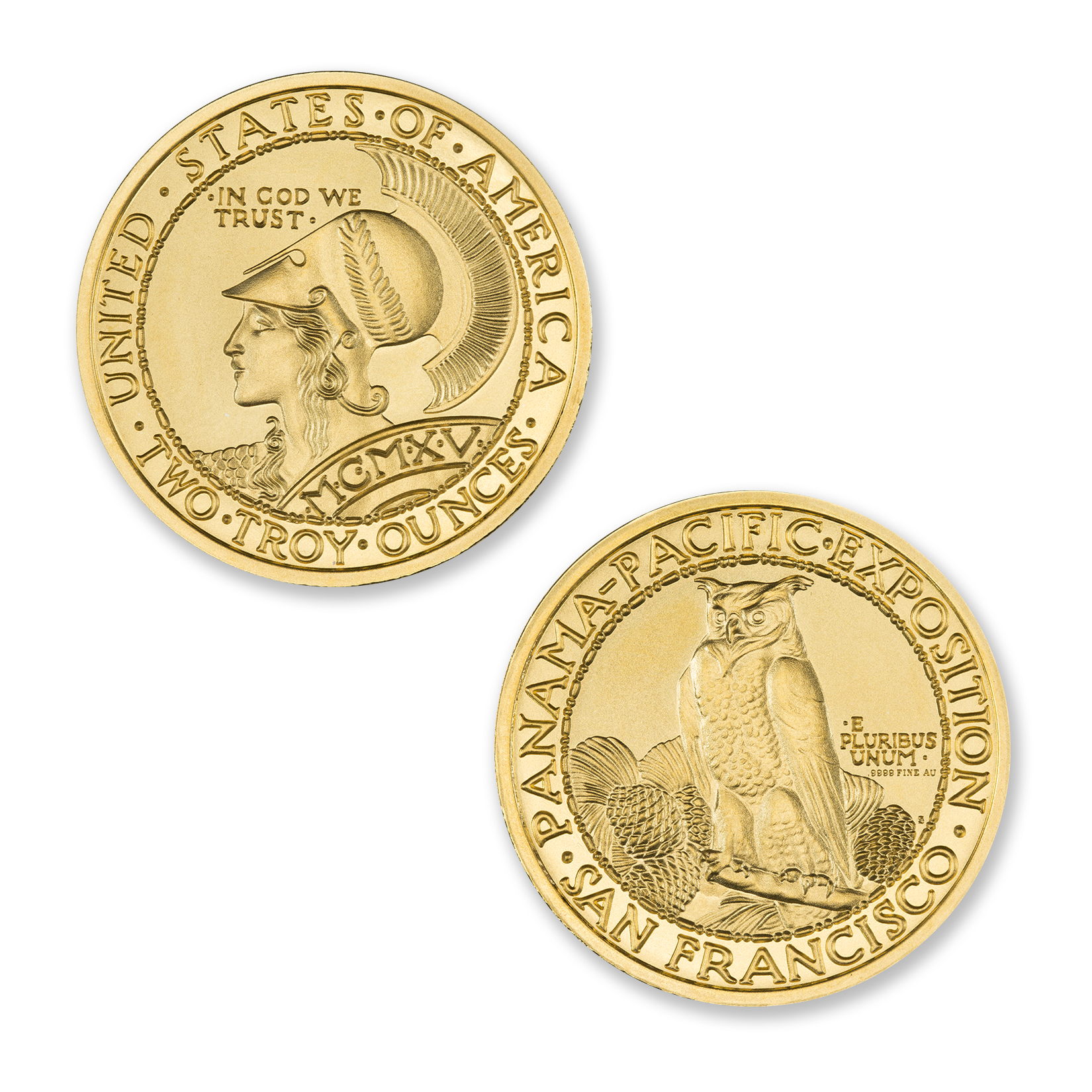 PAN-PAC ROUND TRIBUTE – 2 TROY OUNCE – 39MM – .9999 FINE GOLD