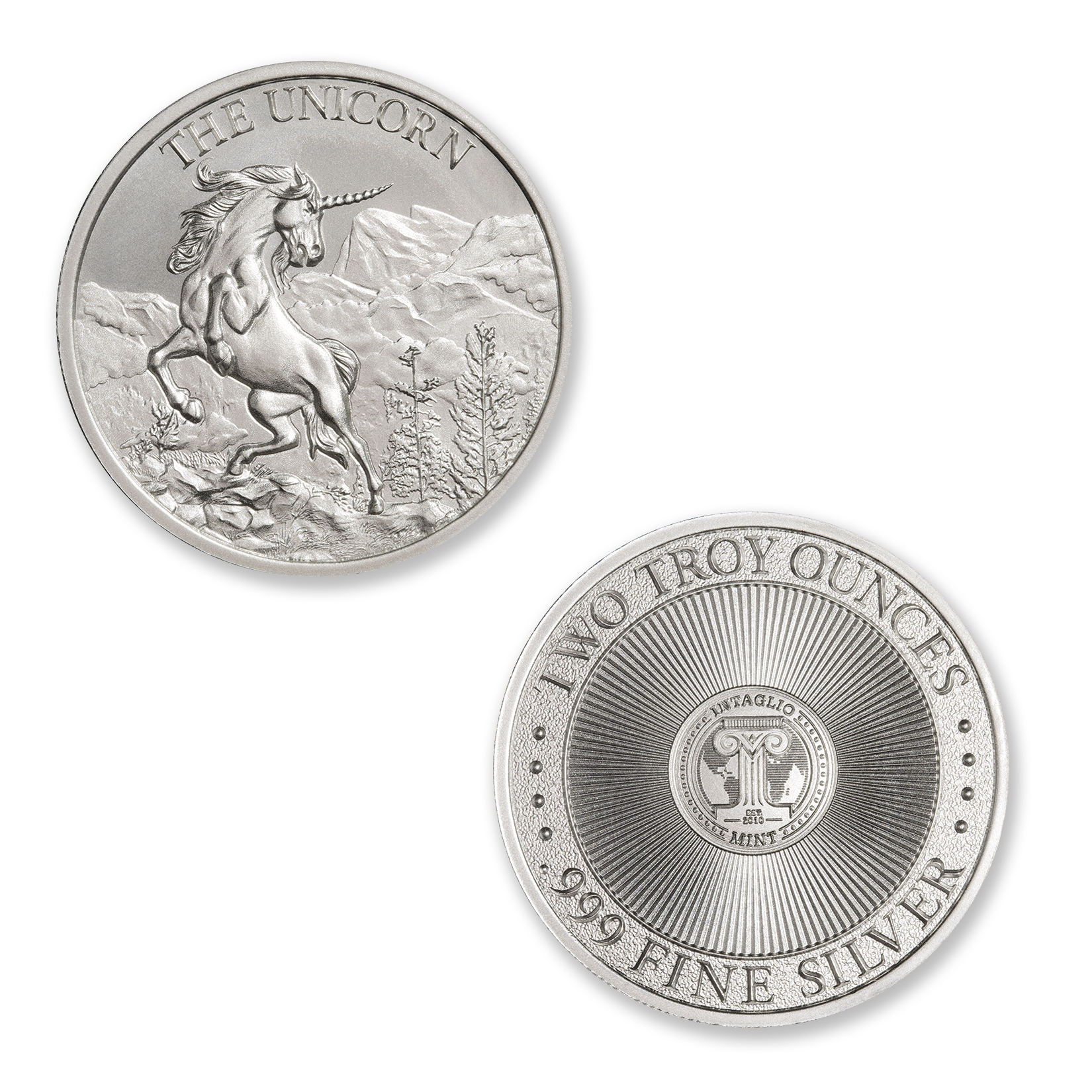 THE UNICORN – 2 TROY OUNCE – 39MM