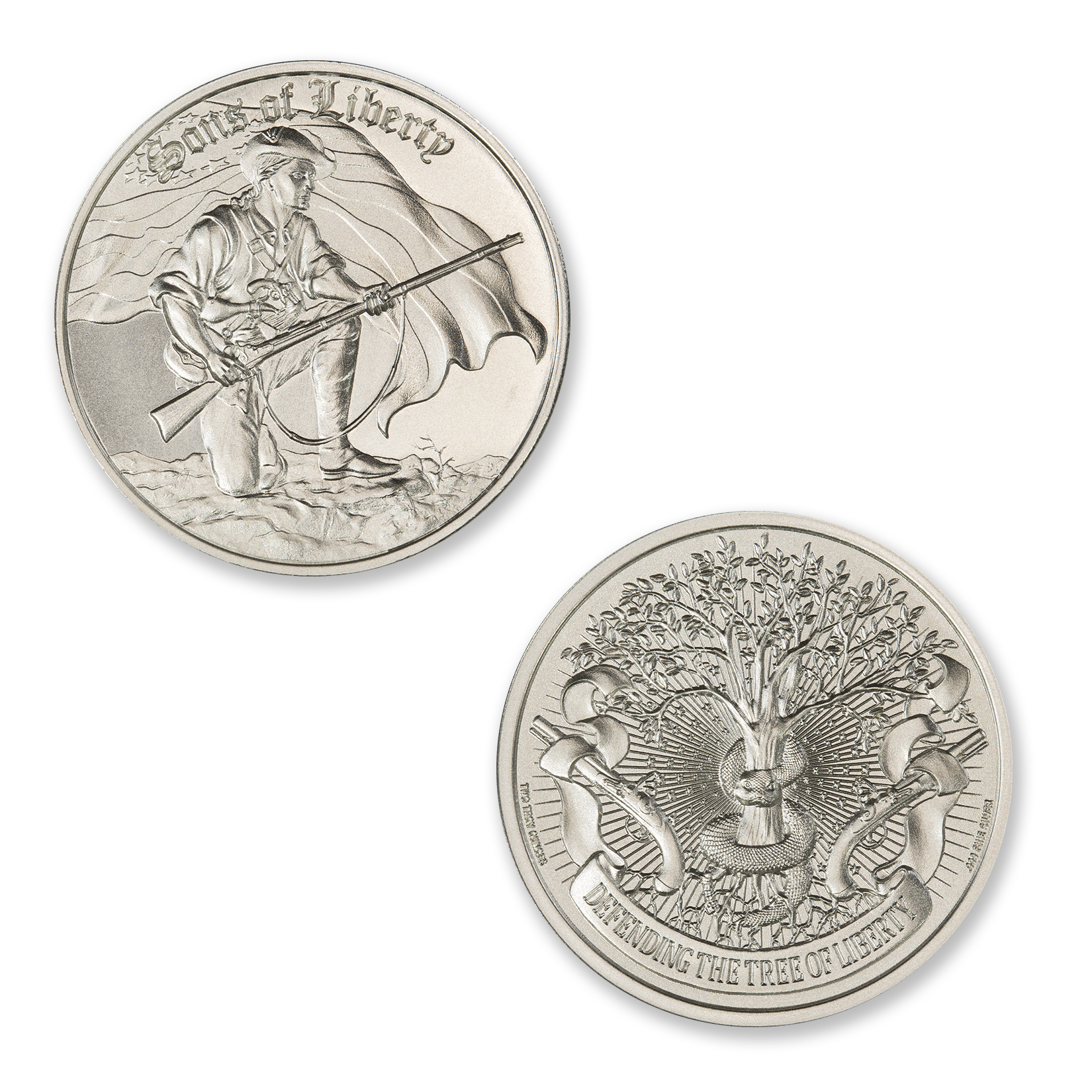 SONS OF LIBERTY, LIBERTY TREE – 2 TROY OUNCE – 39MM