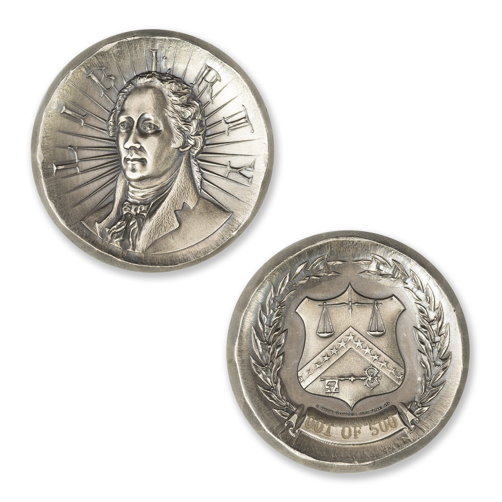 ALEXANDER HAMILTON – 3 TROY OUNCE – 42MM (ONLY 500 MINTED!)