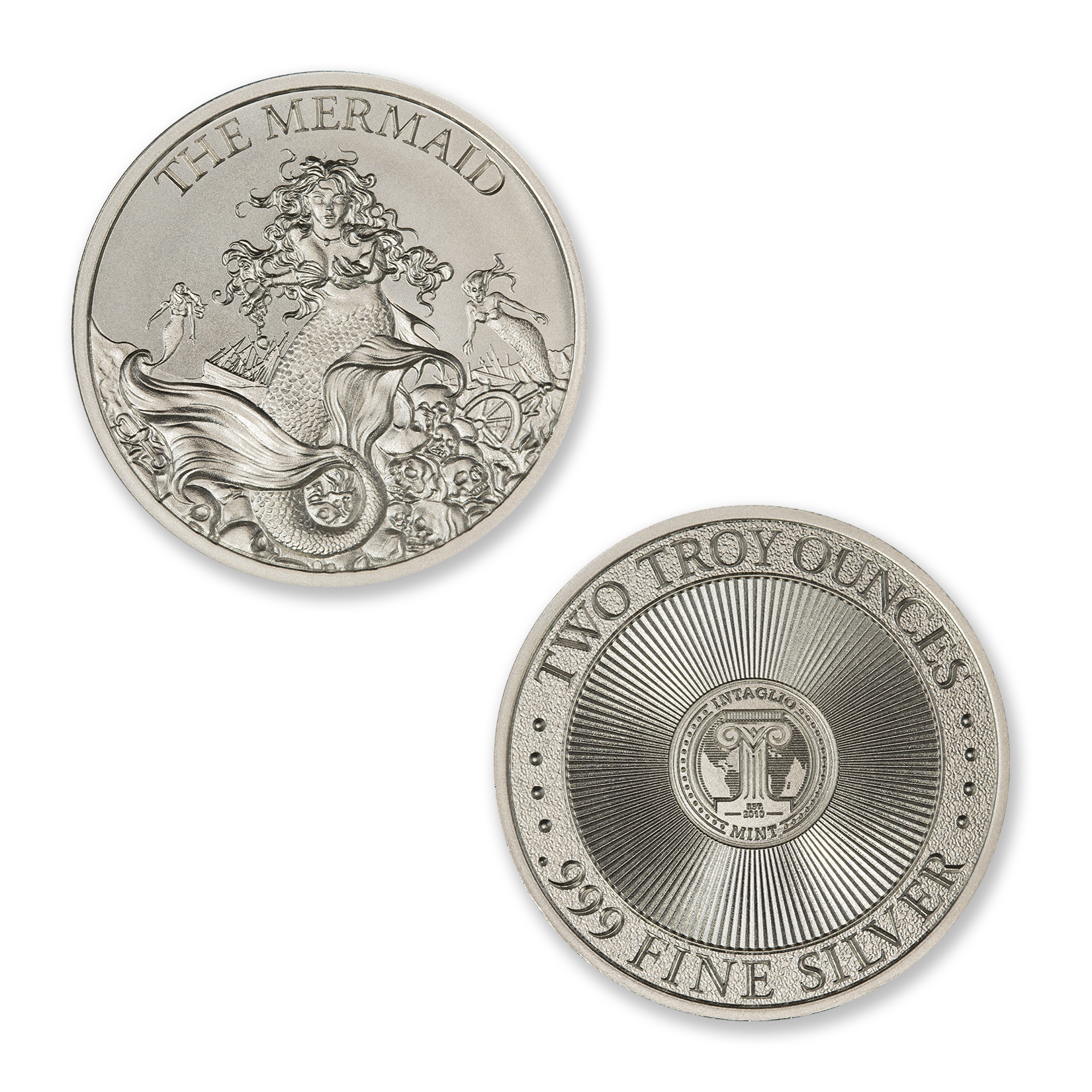 THE MERMAID – 2 TROY OUNCE – 39MM