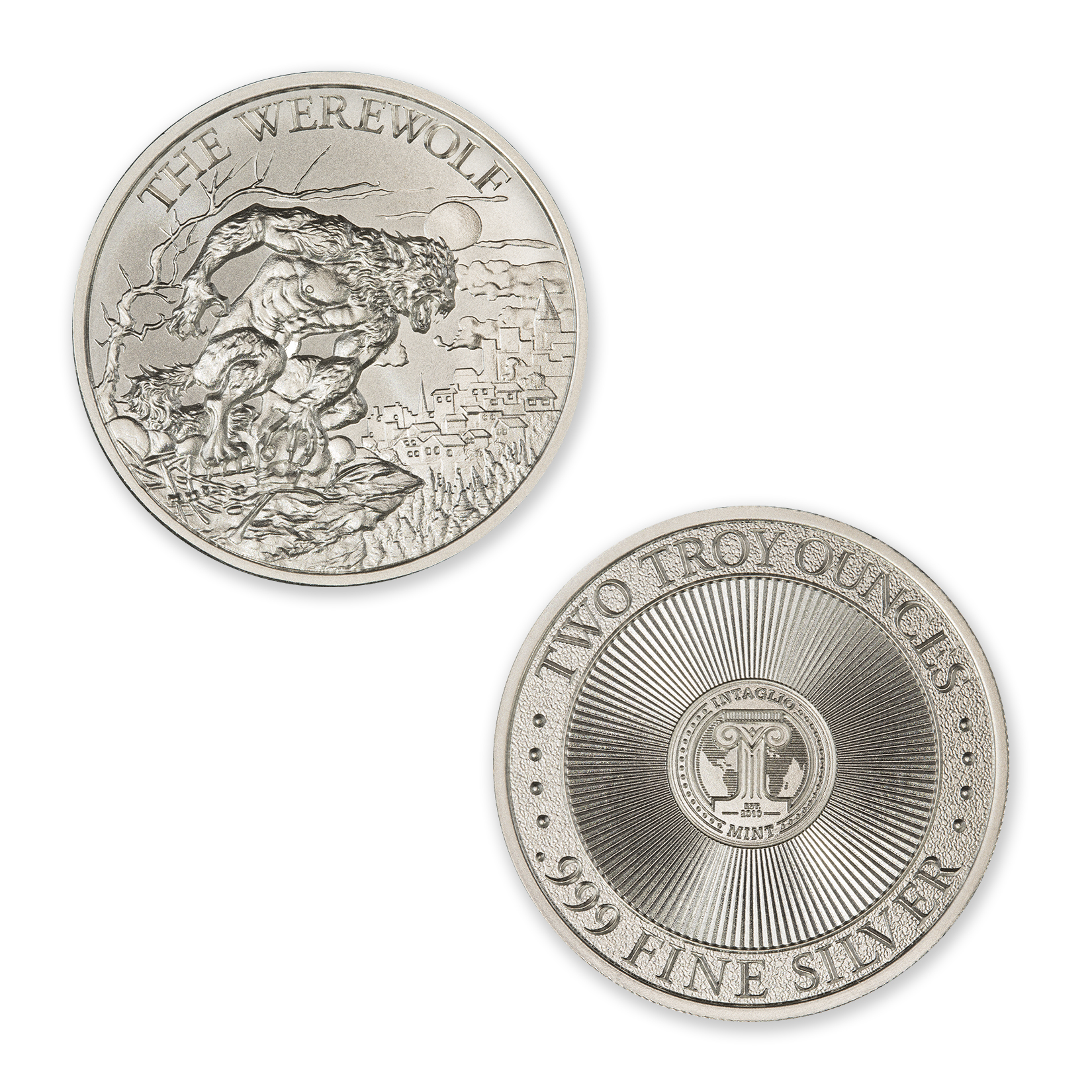 THE WEREWOLF – 2 TROY OUNCE – 39MM