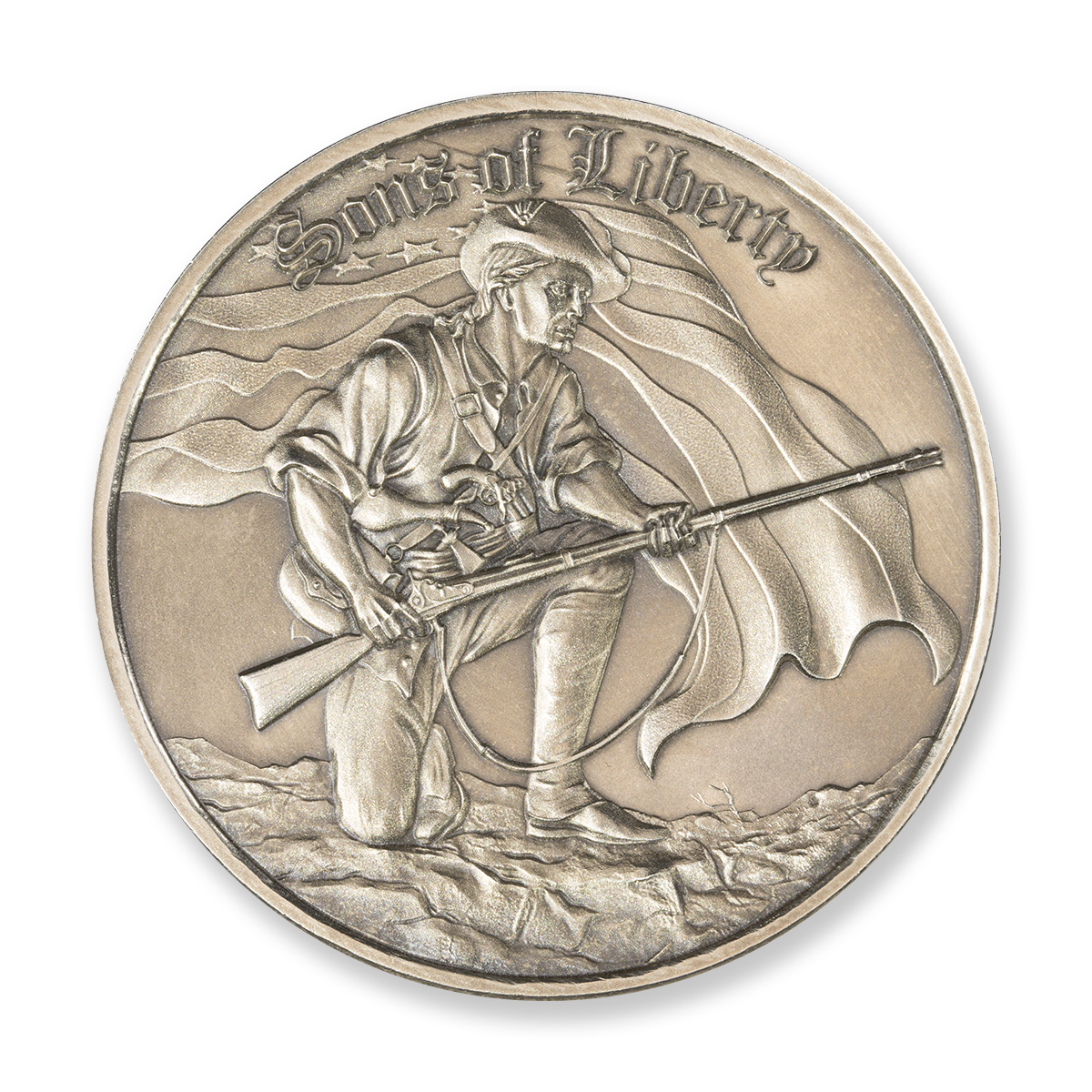 SONS OF LIBERTY, LIBERTY TREE – 2 TROY OUNCE – 50MM (ONLY 500 MINTED)