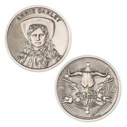 ANNIE OAKLEY – 2 TROY OUNCE – 39MM (ANTIQUED)