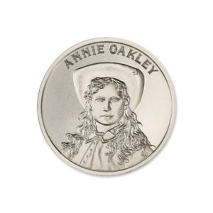 ANNIE OAKLEY – 2 TROY OUNCE – 39MM