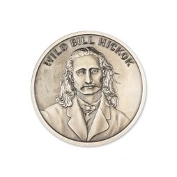 WILD BILL HICKOK – 2 TROY OUNCE – 39MM (ANTIQUED)