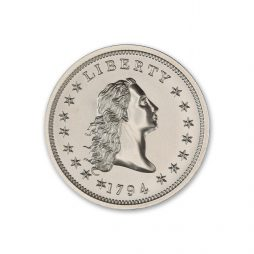 1794 FLOWING HAIR DOLLAR TRIBUTE – 2 TROY OUNCE – 39MM