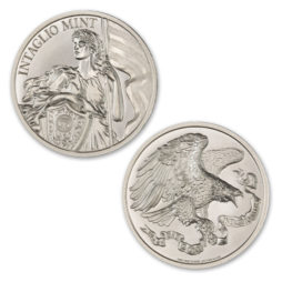 INTAGLIO'S LIBERTY – 2 TROY OUNCE – 39MM