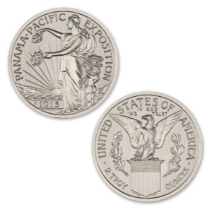 PAN-PAC COMMEMORATIVE HALF-DOLLAR TRIBUTE – 2 TROY OUNCE – 39MM