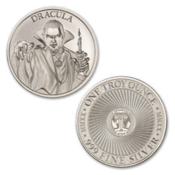 DRACULA – VINTAGE HORROR SERIES – 1 TROY OUNCE – 39MM