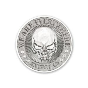 2020 – DEUCE FOUR SKULL HIGH RELIEF – 2 TROY OUNCE – 39MM