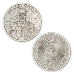 FRANKENSTEIN – VINTAGE HORROR SERIES – 2 TROY OUNCE – 39MM