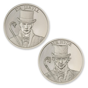DR. JEKYLL AND MR. HYDE – VINTAGE HORROR SERIES – 2 TROY OUNCE – 39MM *DISCONTINUED FINAL MINTAGE: 301*