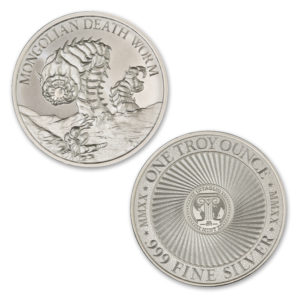 2020 – MONGOLIAN DEATH WORM – 1 TROY OUNCE – 39MM