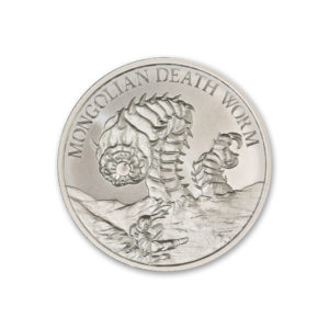 2020 – MONGOLIAN DEATH WORM – 2 TROY OUNCE – 39MM