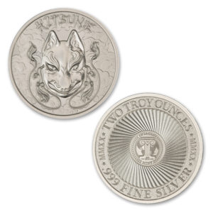 2020 – KITSUNE – 2 TROY OUNCE – 39MM