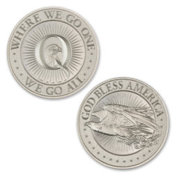 QANON – WHERE WE GO ONE, WE GO ALL – 2 TROY OUNCE – 39MM