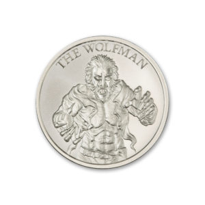 2021 THE WOLFMAN – VINTAGE HORROR SERIES – 2 TROY OUNCE – 39MM