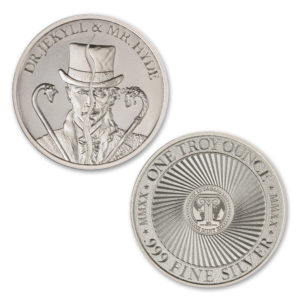 DR. JEKYLL AND MR. HYDE – TYPE II – VINTAGE HORROR SERIES – 1 TROY OUNCE – 39MM